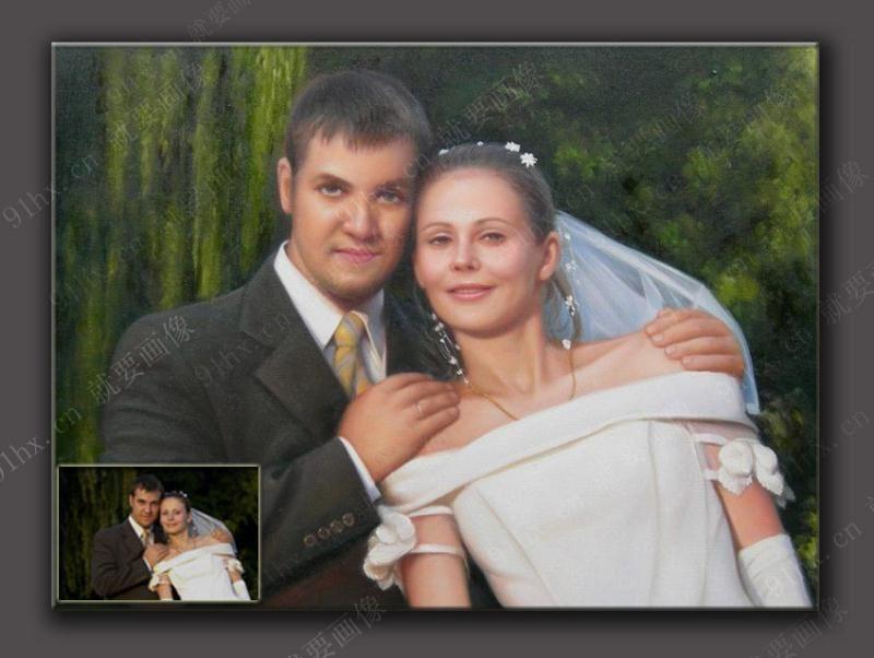 西方油画婚纱照