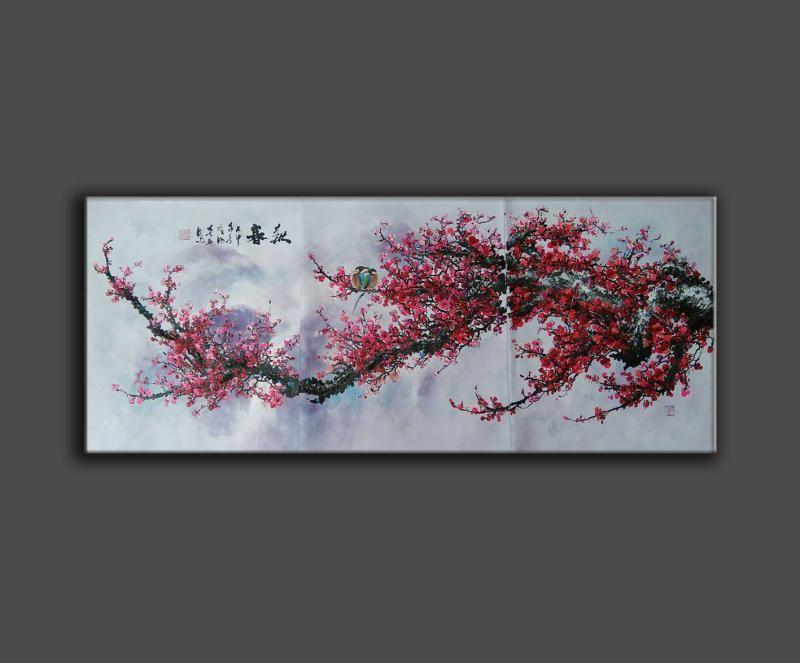 梅花客厅油画